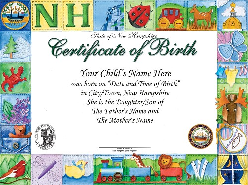 Example Birth Certificate