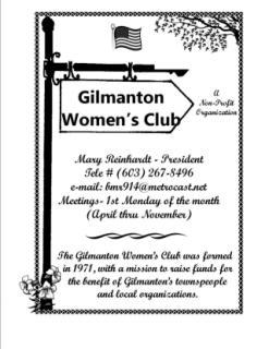 Gilmanton Women's Club